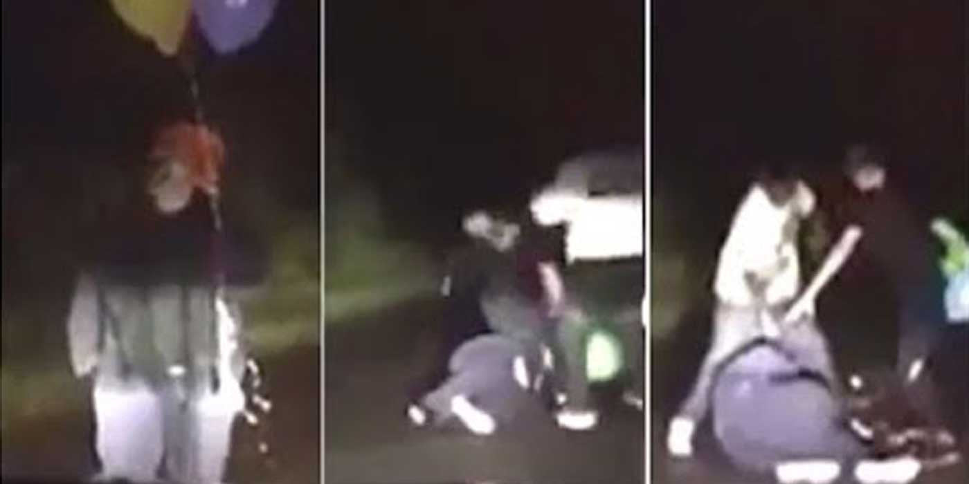 WATCH: Clown Beat With Baseball Bat After Approaching Car (VIDEO)