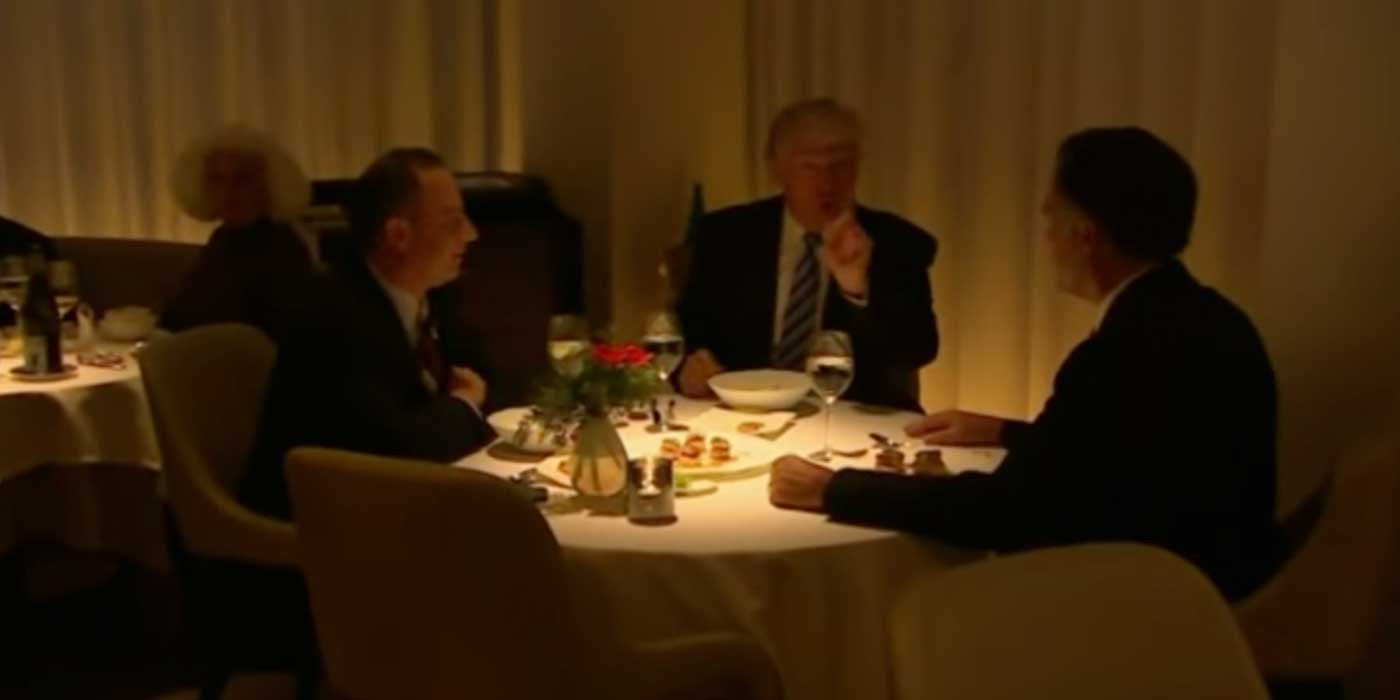 WATCH: Donald Trump dines with Mitt Romney in NYC (RAW VIDEO)