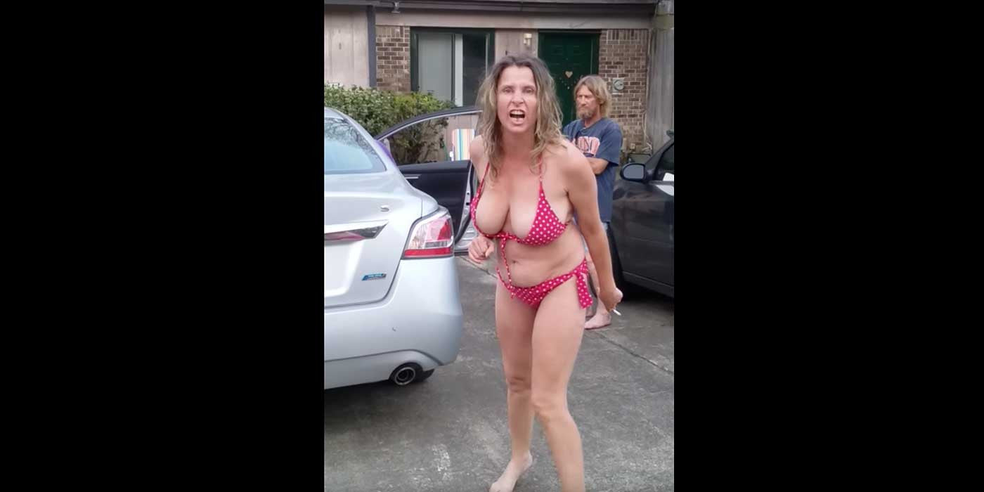 WATCH: Drunk Racist Woman Wearing Bikini Has A Public Freakout (VIDEO)