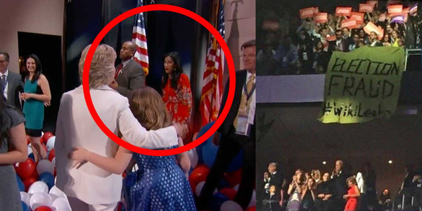 WATCH: Flag Falls On Huma After Hillary Clinton's DNC Speech (VIDEO)