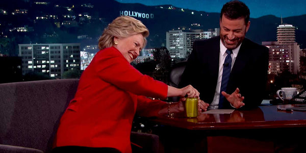 WATCH: Hillary Proves She Is Healthy By Opening Pickle Jar? (VIDEO)