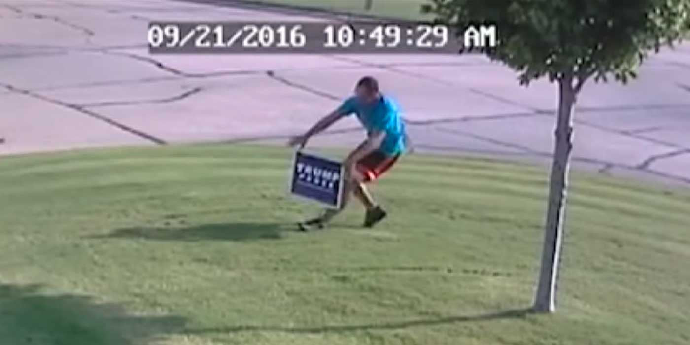 WATCH: How To Stop Thieves From Stealing Your Trump Sign (VIDEO)