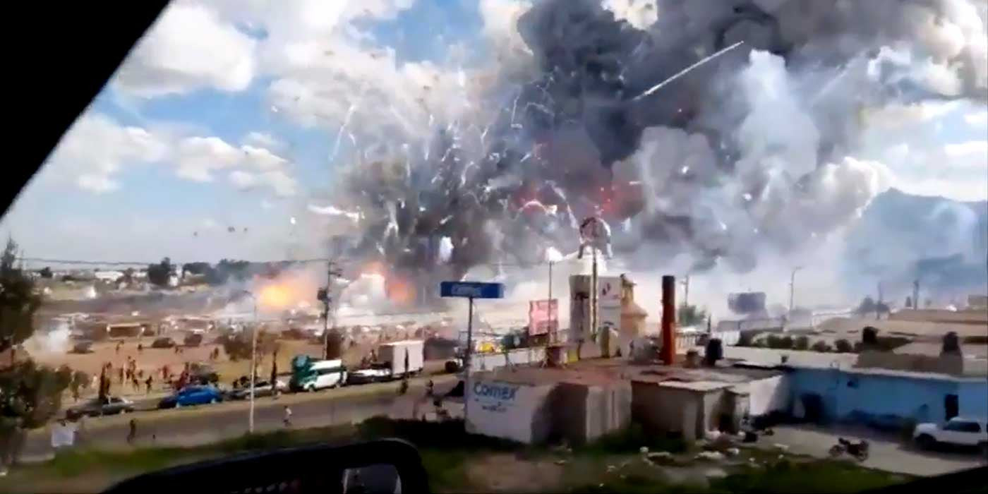 WATCH: Mexico Fireworks Market Explosion Caught On Camera (VIDEO)