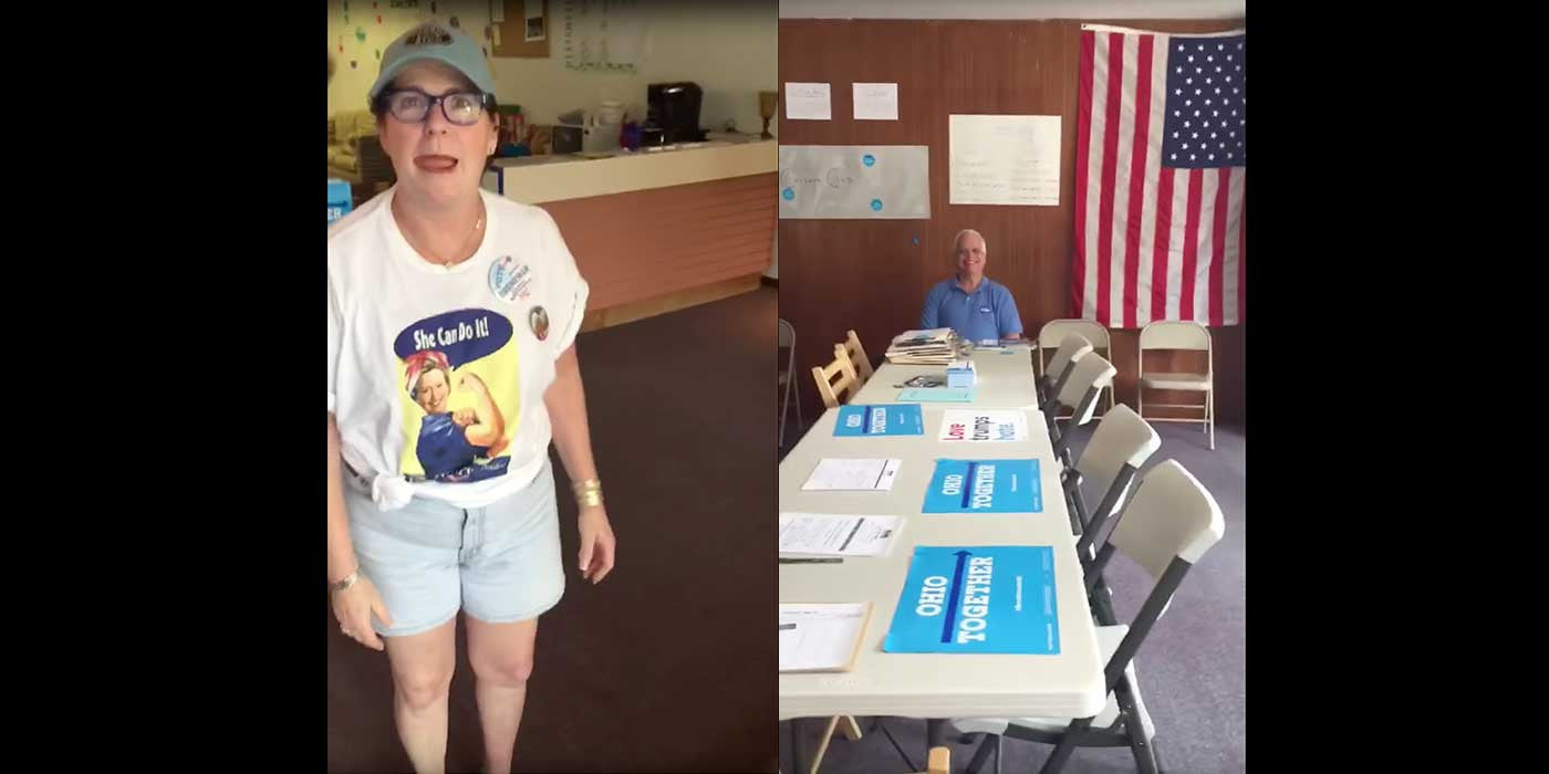 WATCH: Only one Trump supporter shows up to Hillary event in Ohio