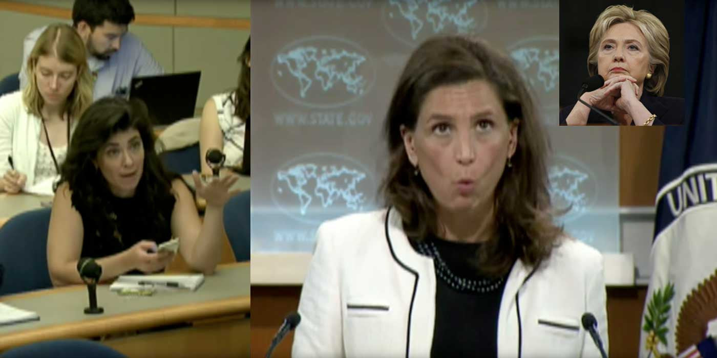 WATCH: Reporters Grill State Department Over Clinton Emails (VIDEO)