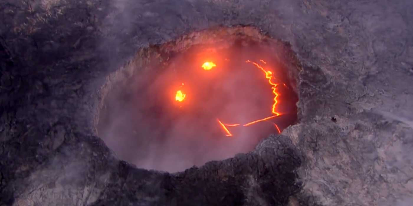 WATCH: Strange Smiley Face Appears In Hawaiian Volcano (VIDEO)