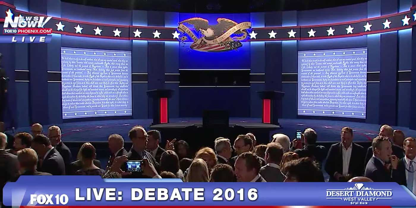 WATCH: The First 2016 Presidential Debate (LIVE STREAM)