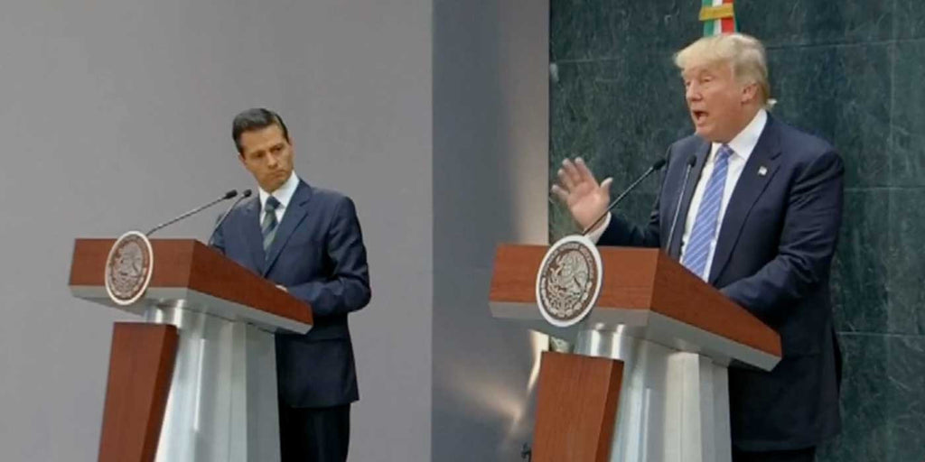 WATCH: Trump Defends Wall While Meeting With Mexican President (VIDEO)