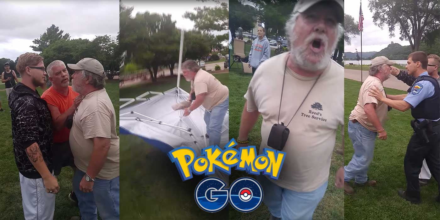 WATCH: Veteran Loses It Over Memorial Park Being Used For Pokemon Go