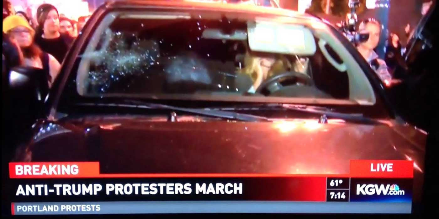 WATCH: Violent Anti-Trump Protesters Attack Woman In Portland (VIDEO)
