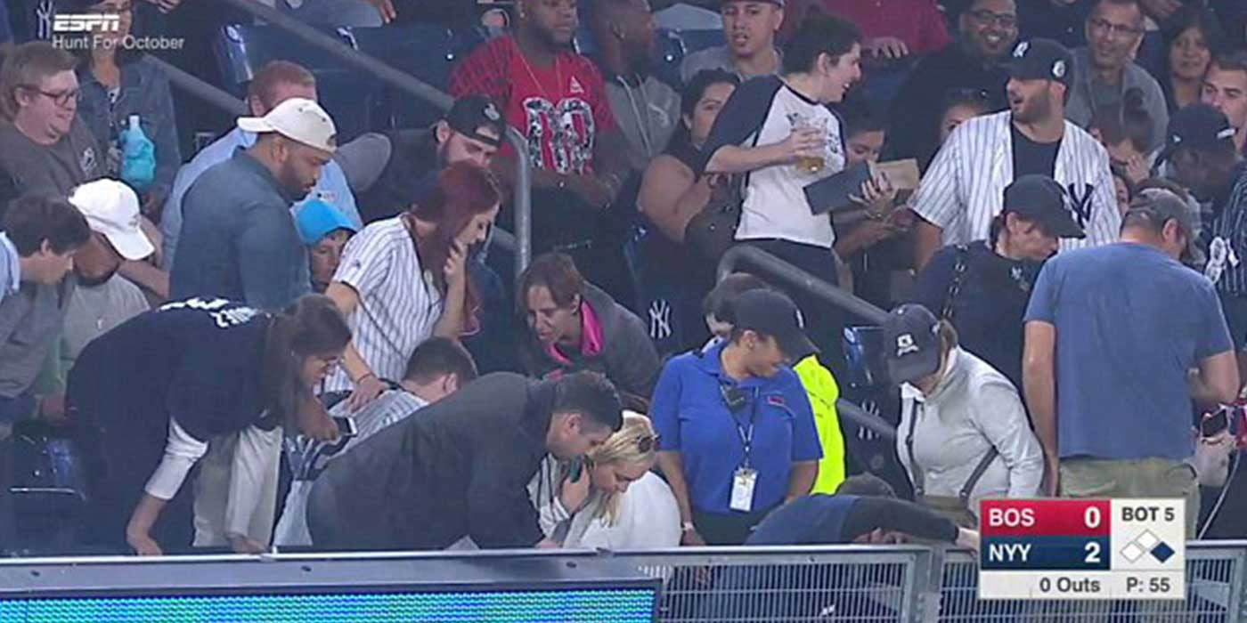 WATCH: Yankee fan loses engagement ring on TV while proposing (VIDEO)
