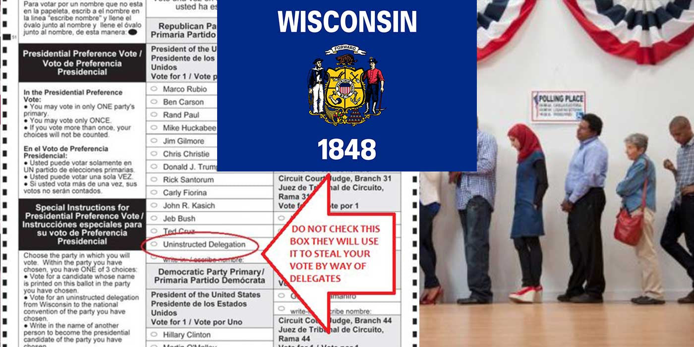 WARNING TO WISCONSIN VOTERS --- DO NOT CHECK THIS BOX