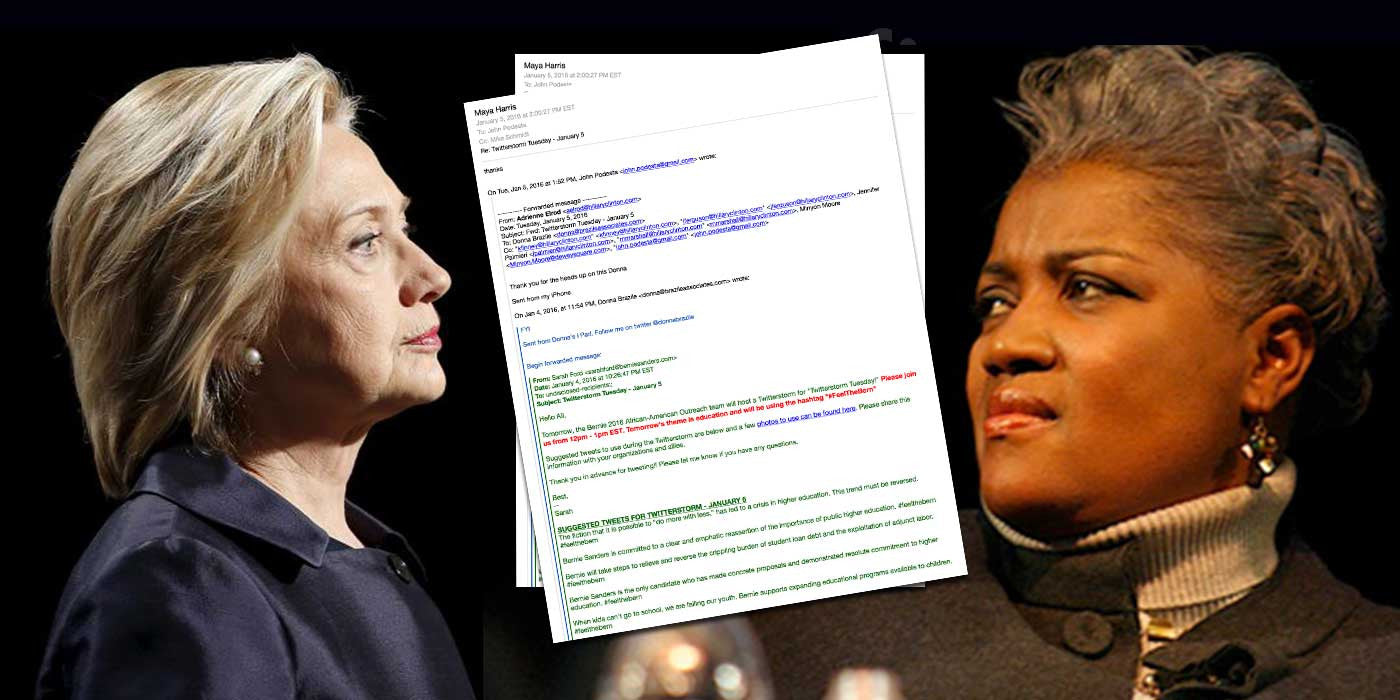 WikiLeaks: DNC Chief Donna Brazile Leaked Bernie Info to Hillary