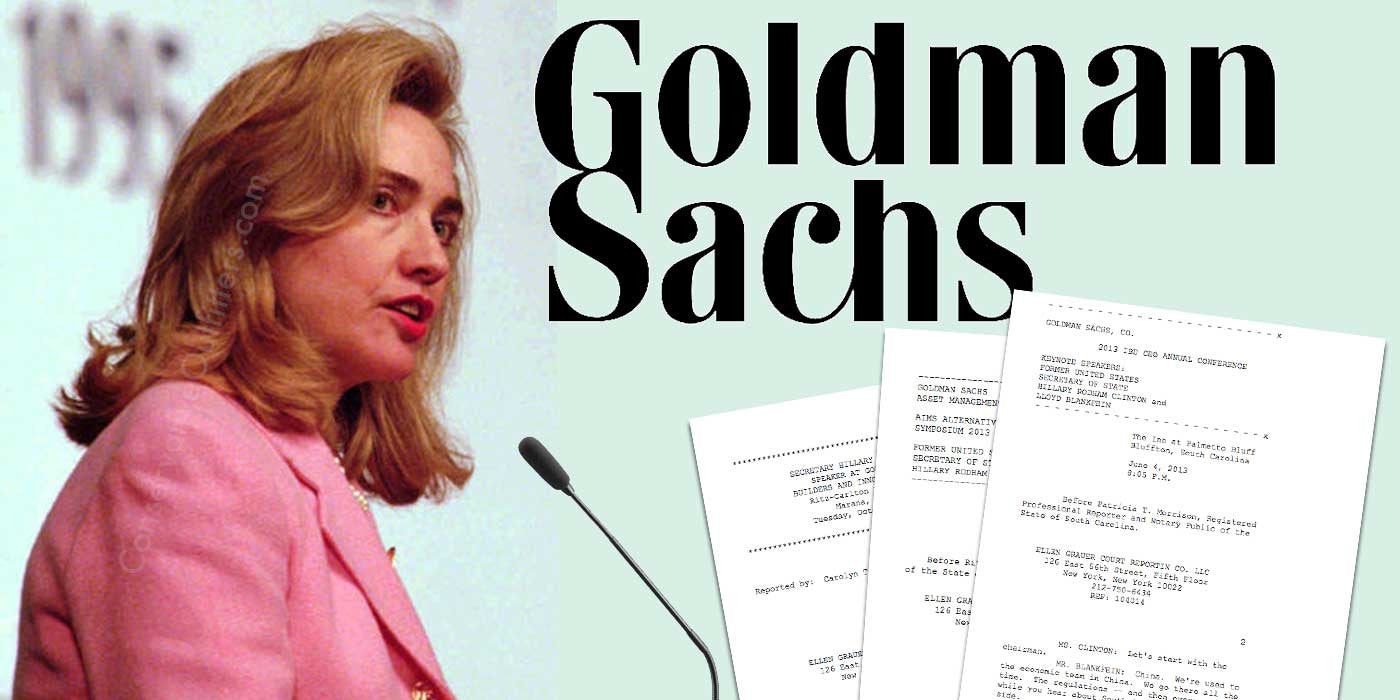 WikiLeaks: Full Transcript of Hillary Clinton's Goldman Sachs Speeches
