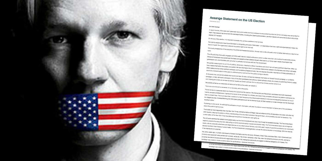 WikiLeaks: Julian Assange Statement on the US Election (FULL LETTER)