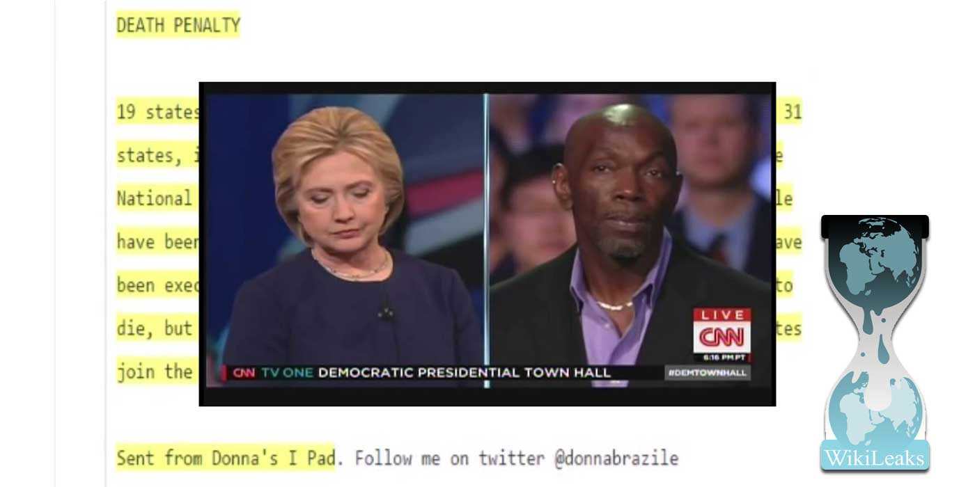 conservative outfitters news tagged leak wikileaks proof donna e had town hall question before cnn