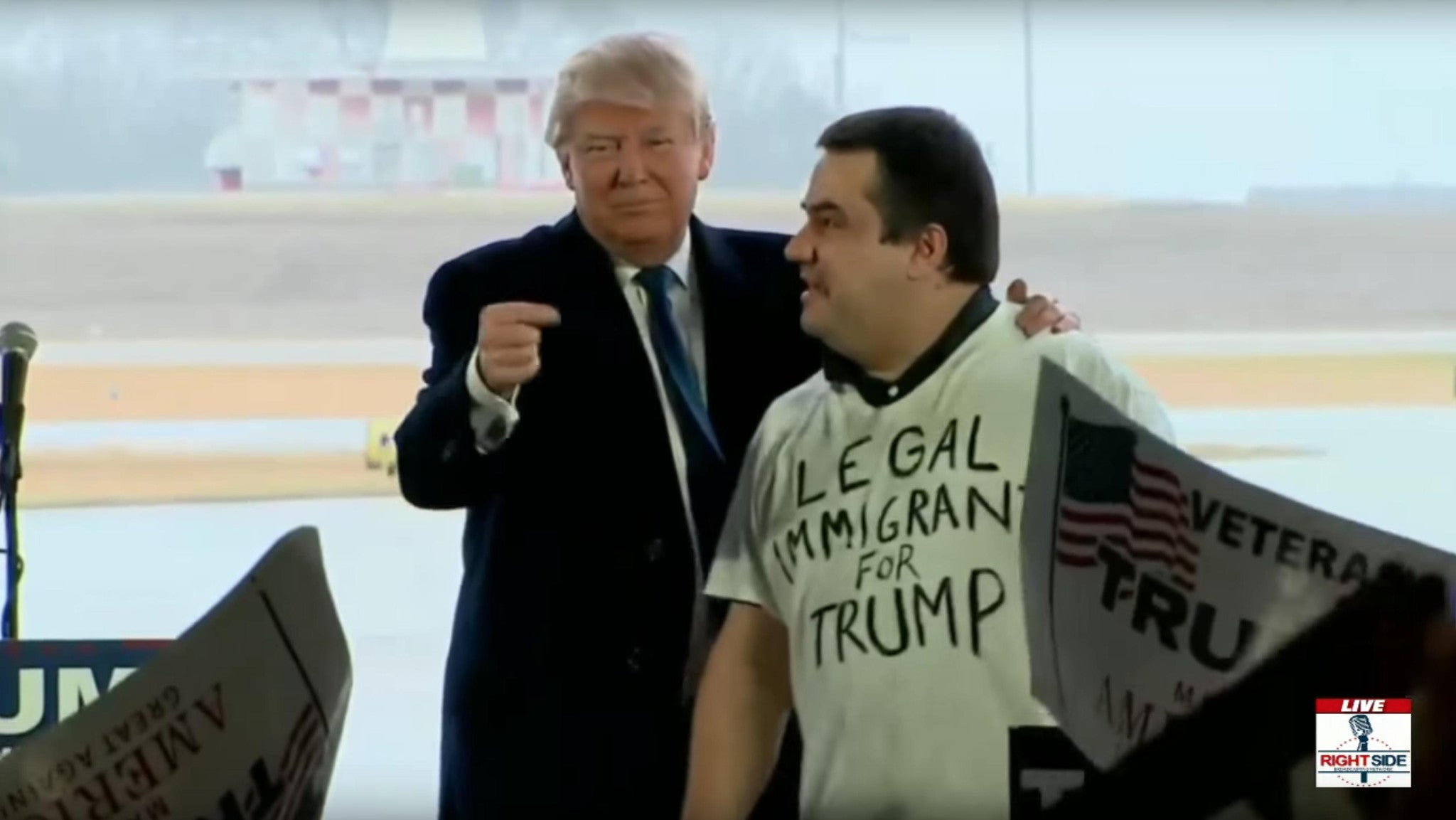 WATCH: Donald Trump invites LEGAL immigrant on stage
