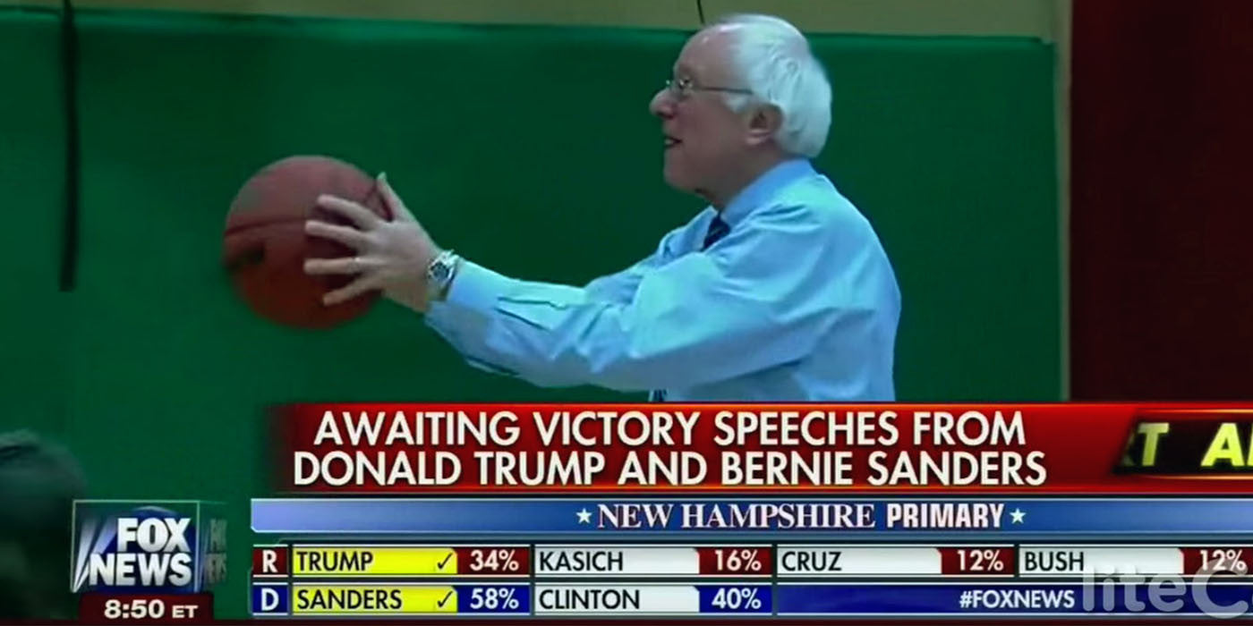 "FOX NEWS: ""Sanders better than Obama on the basketball court"""
