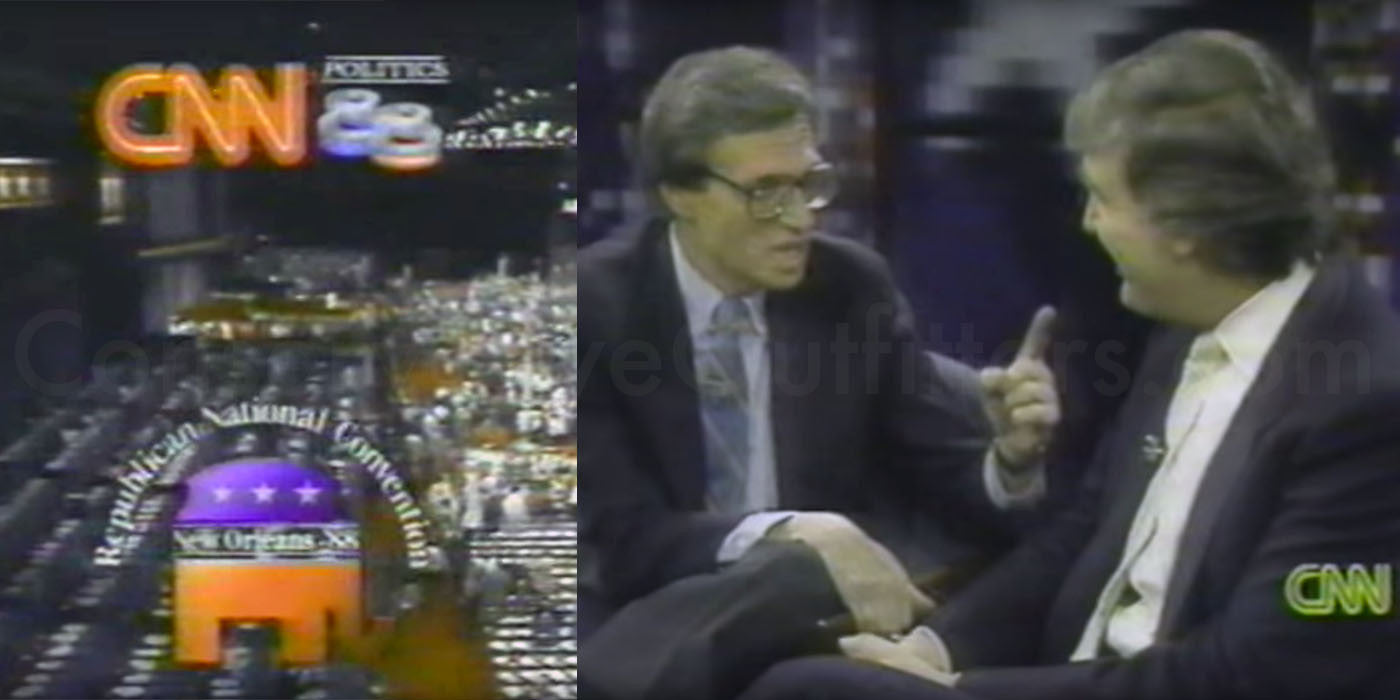 Larry King interviewed Donald Trump at the 1988 Republican Convention