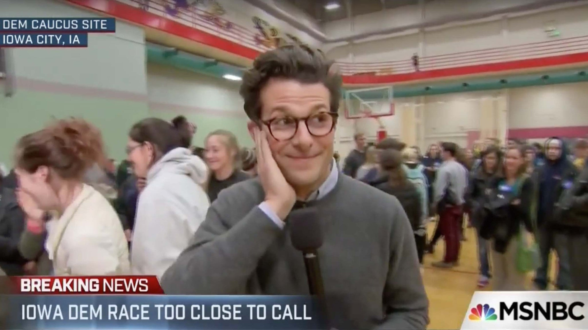 Iowa Caucus Voter Drops F-Bomb Live on MSNBC (Video)