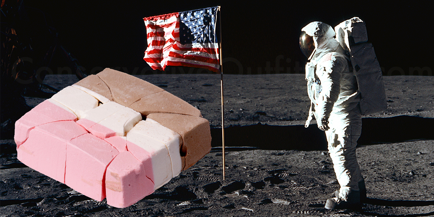 Astronaut ice cream is a lie