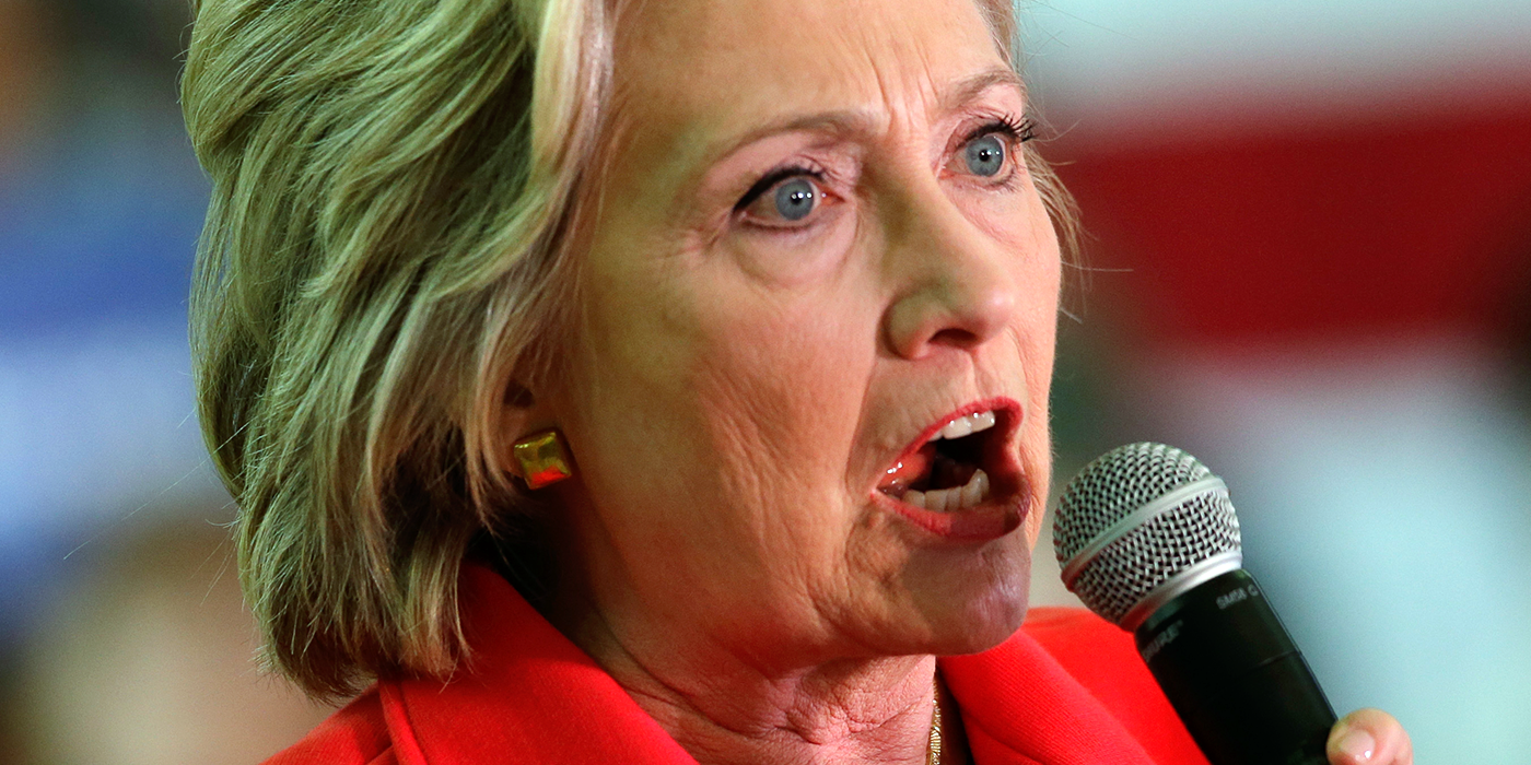 VIDEO: Hillary Clinton barks like a dog to attack Republicans at Rally