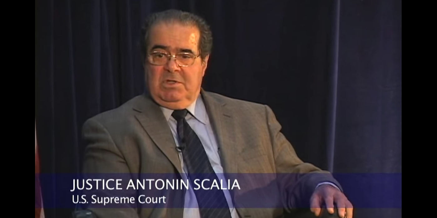 Legally Speaking: Justice Antonin Scalia (VIDEO)