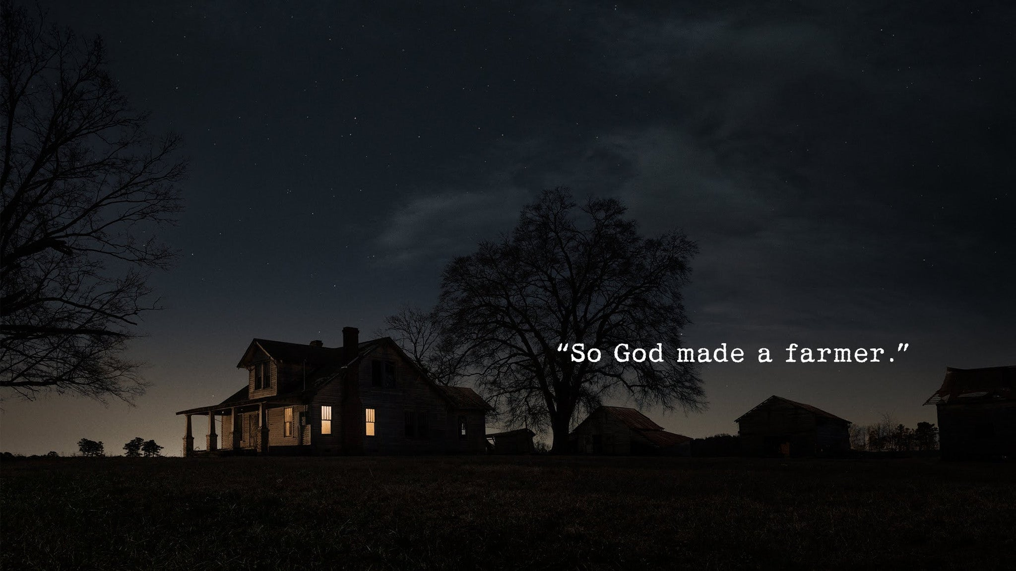 """So God made a farmer"" (Video)"