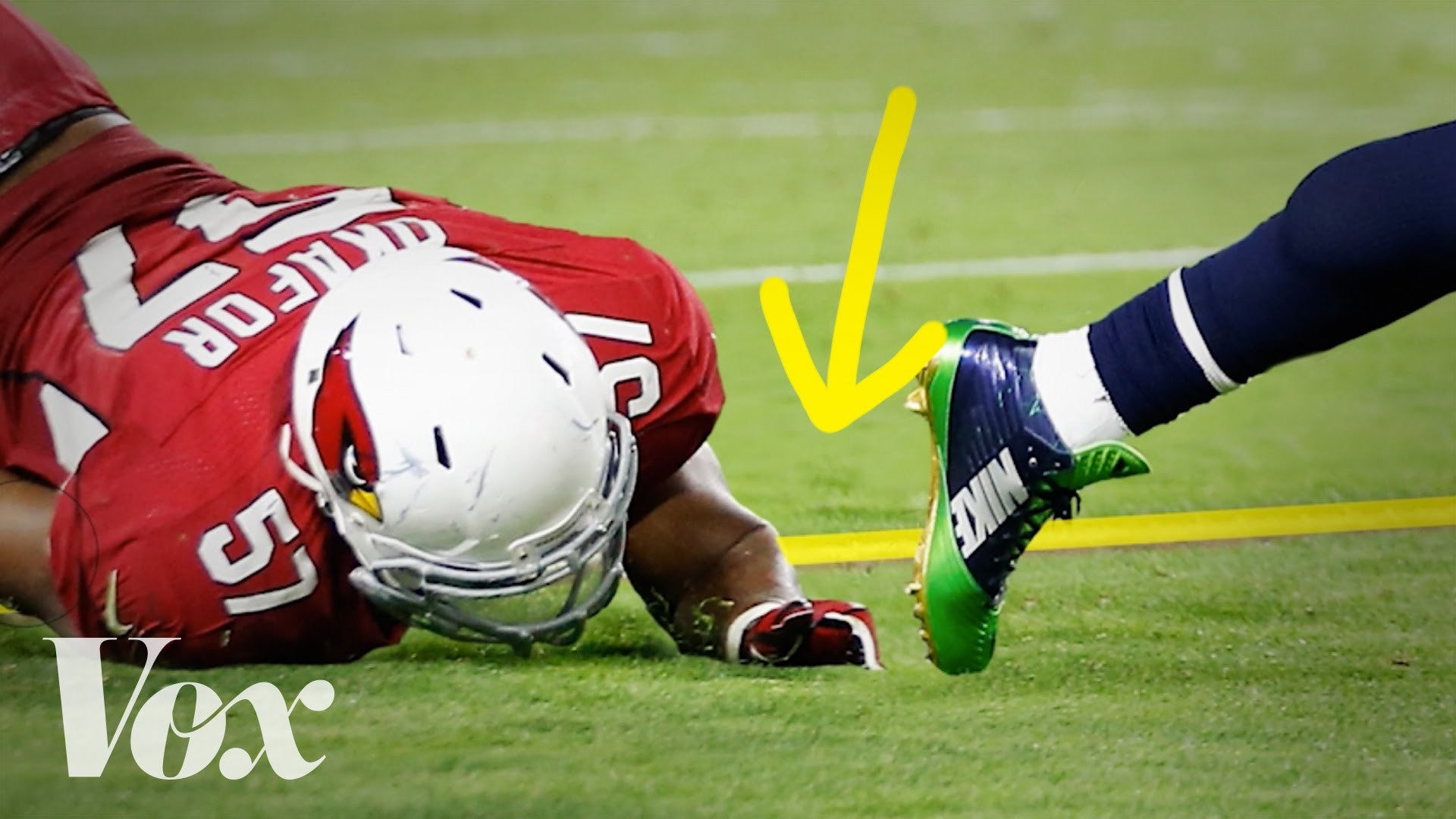 The NFL's magic yellow line, explained