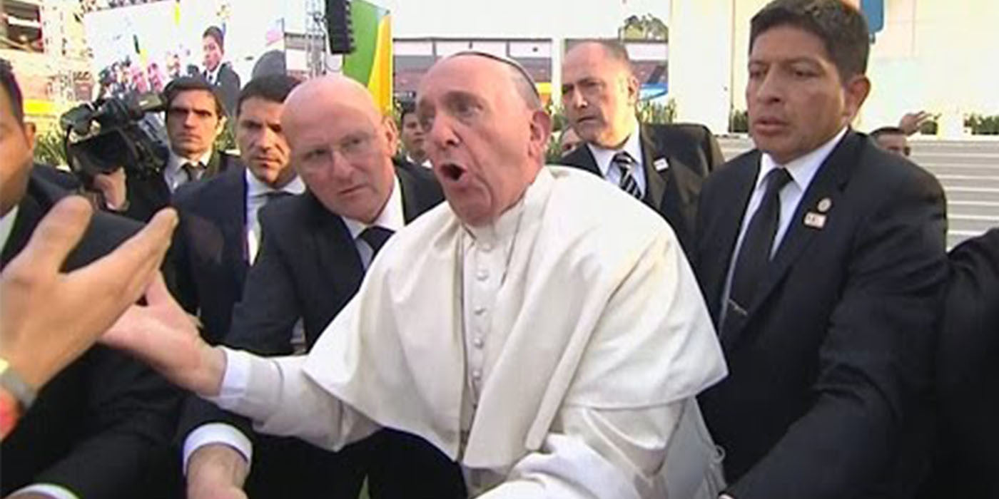 Pope Francis loses his cool in Mexico