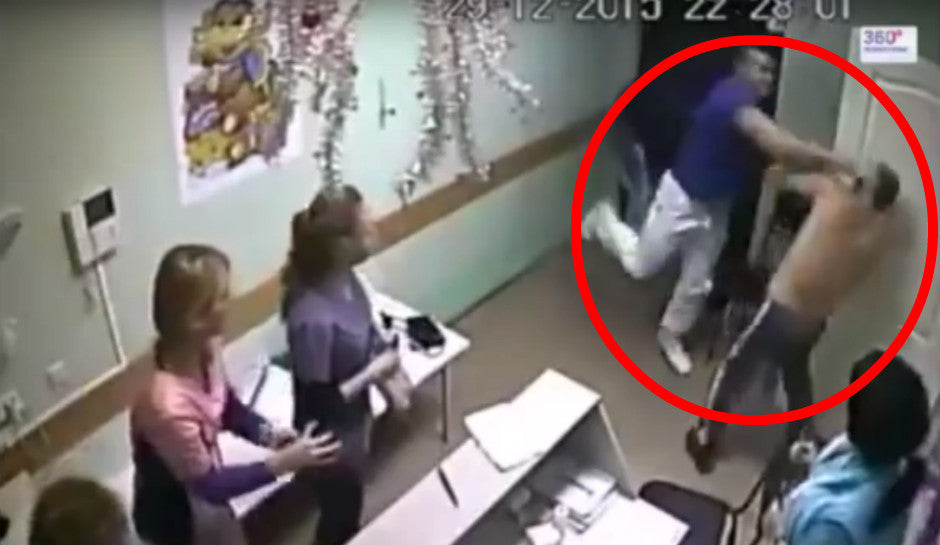 Doctor punches patient, killing him instantly (Surveillance Footage)