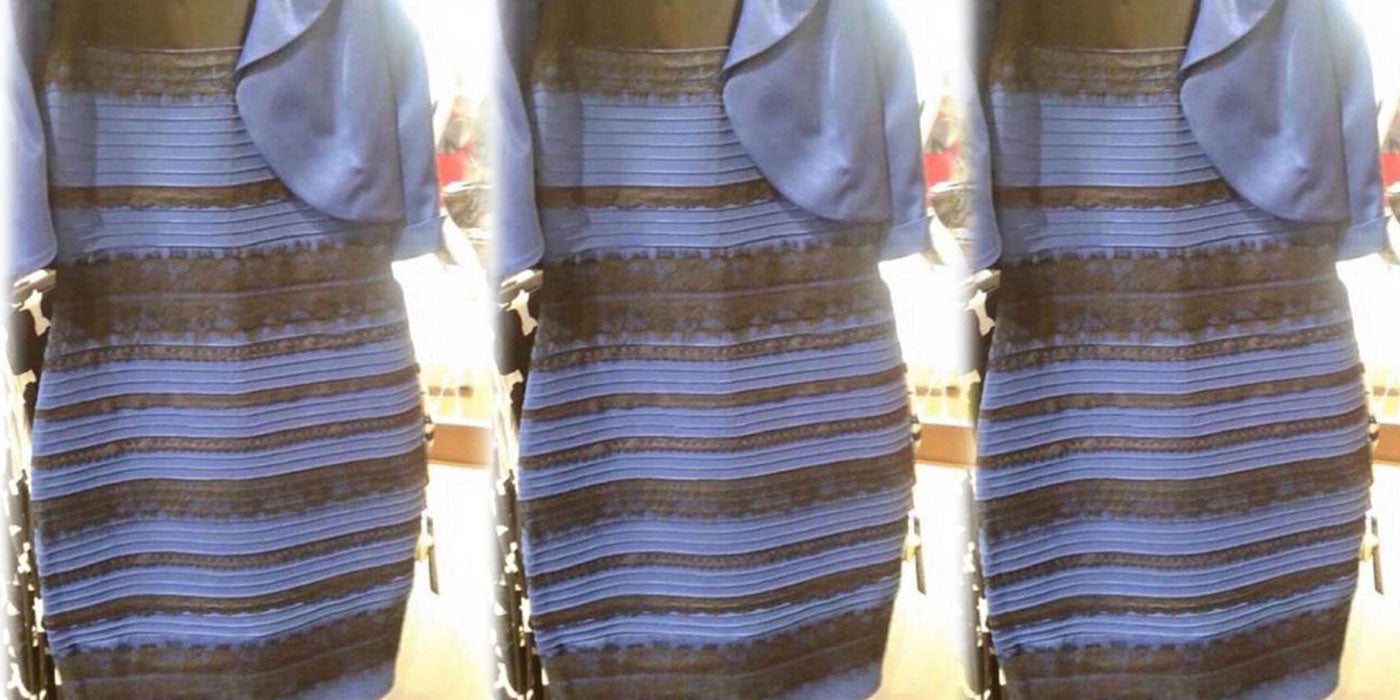 One year later... no one agrees on this dress color