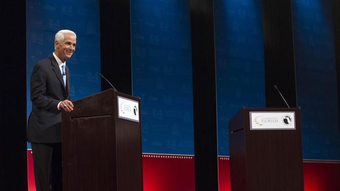 VIDEO: Rick Scott Refuses To Debate Charlie Crist Because Of His Fan