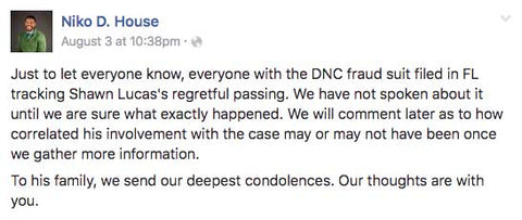 Another mysterious death connected to the Democratic National Committee in less than a month