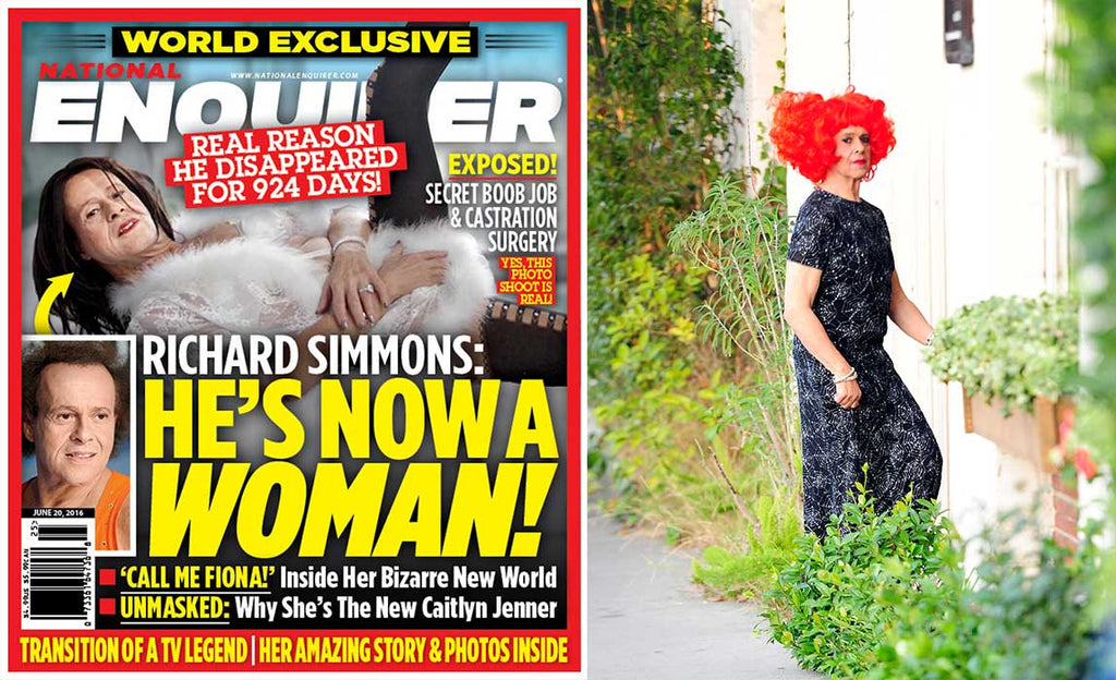 BOMBSHELL: Report says Richard Simmons is transitioning into a woman named Fiona...
