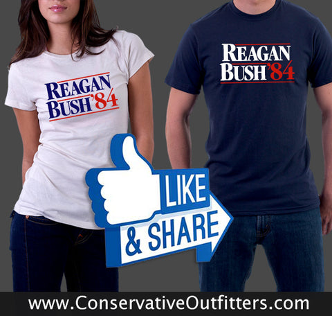 Reagan Bush 84 Tee Shirt Mens and Womens sale Conservative Outfitters