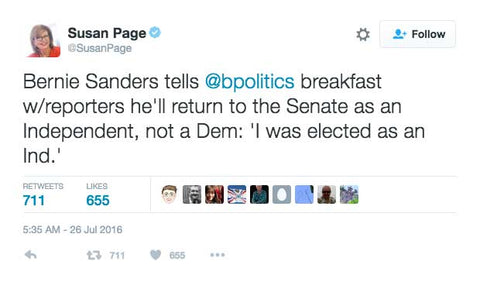 Bernie Sanders Is No Longer A Democrat #DemExit