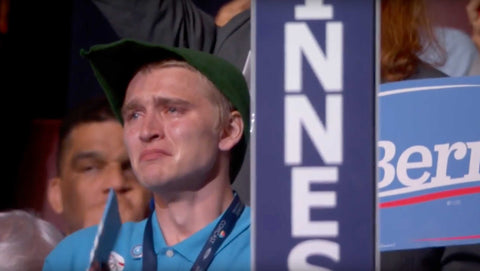 Bernie Sanders Voters Cry At DNC Convention