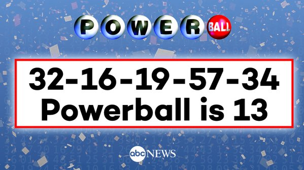 BREAKING: Here are the winning Powerball numbers...