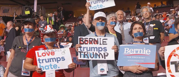 DNC Officials Are Now Taking Away Bernie Sanders Signs From Convention Delegates #DNCLeaks