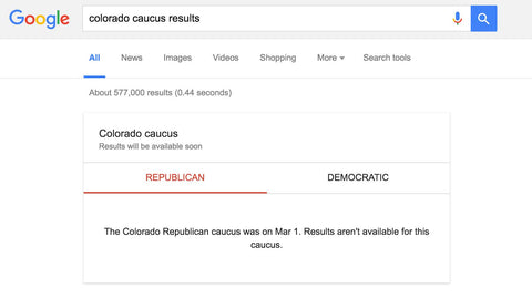 Google Unsure How To Display Colorado Election Results