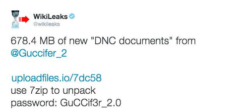 Guccifer 2.0 releases more internal DNC information