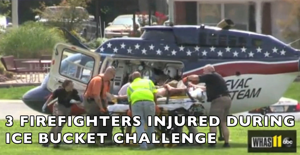 VIDEO: Ice Bucket Challenge Gone Wrong... 3 Firefighters Injured