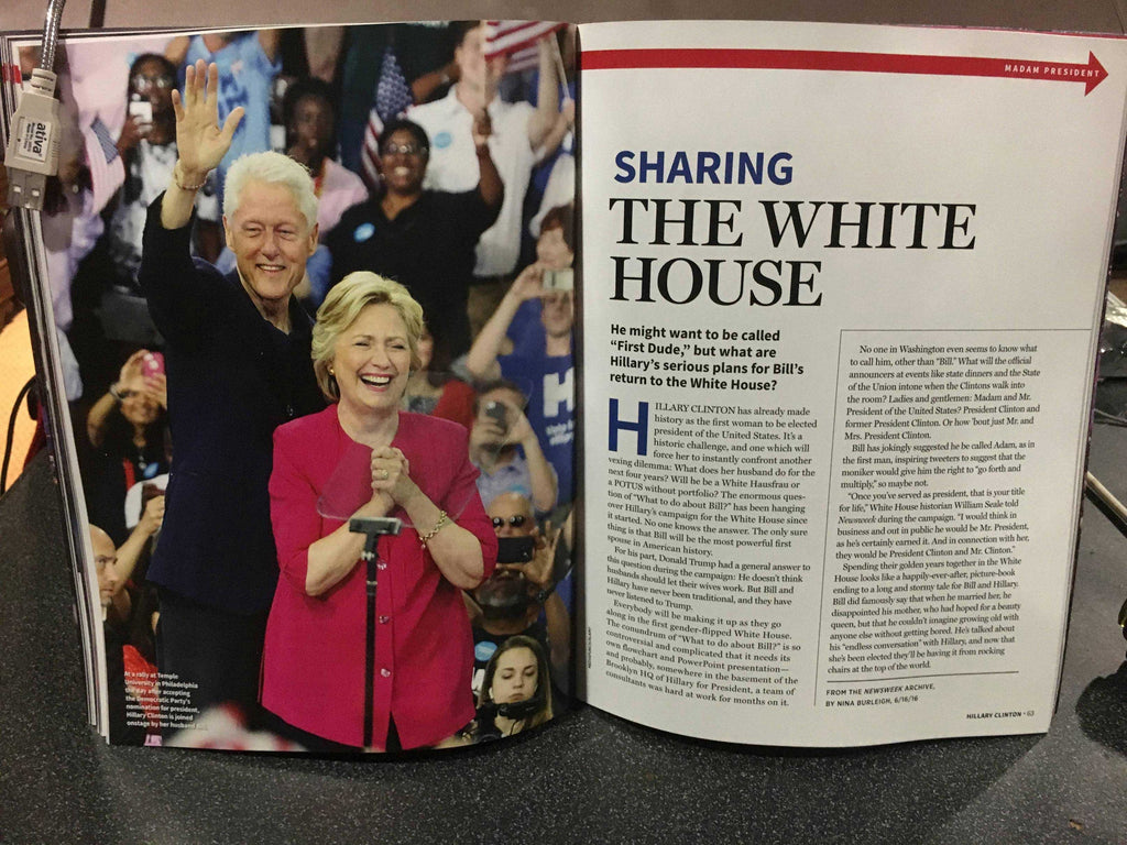 "LEAKED: A look at Newsweek's recalled Hillary Clinton ""MADAM PRESIDENT"" issue 4"