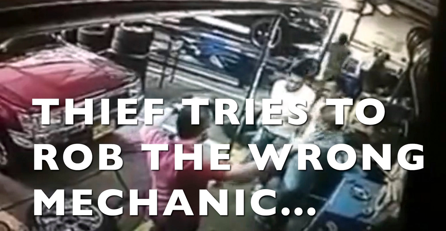 VIDEO: Thief Attempts to Rob the WRONG Mechanic...