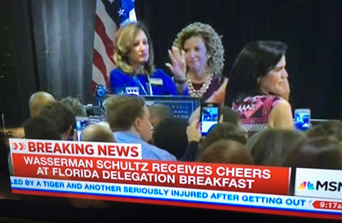 "MSNBC is in full spin mode after the network was implicated in the #DNCLeaks saying Debbie Wasserman Shultz received ""Cheers"" instead of ""Boos"""