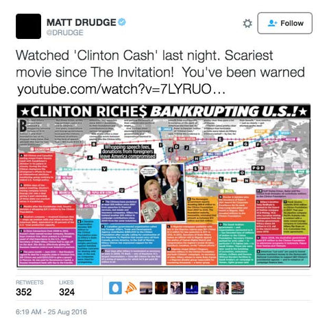 Matt Drudge Hillary Clinton Tweet