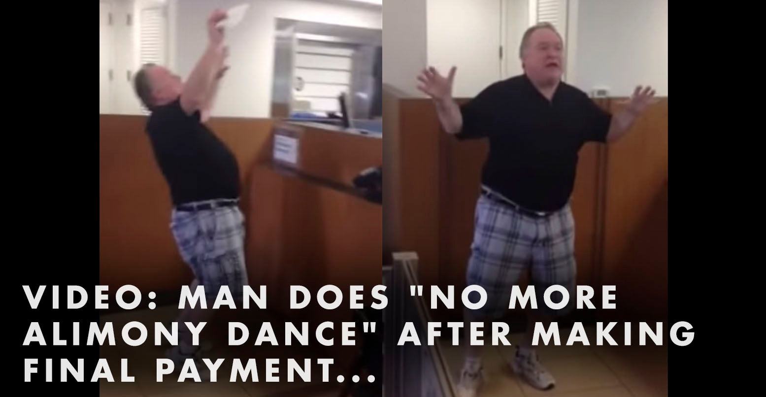 "VIDEO: Man Does ""No More Alimony Dance"" After Making Final Payment..."