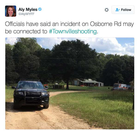 Officials have said an incident on Osborne Rd may be connected to #Townvilleshooting.