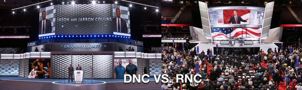 PHOTO: Not A Single American Flag On Stage At The 2016 Democratic National Convention...